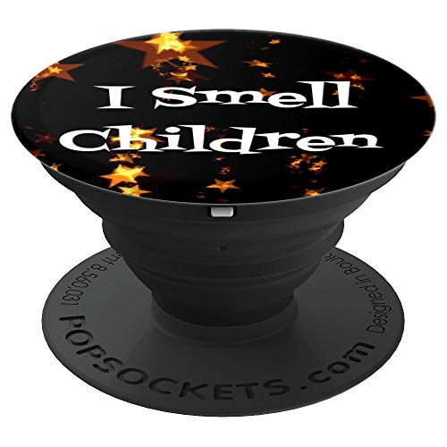 (I Smell Children Funny Halloween Witch Sayings Gift - PopSockets Grip and Stand for Phones and)