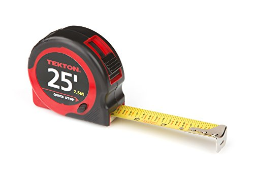 TEKTON 71953 25-Foot by 1-Inch Tape Measure (Measure Fractional Tape)