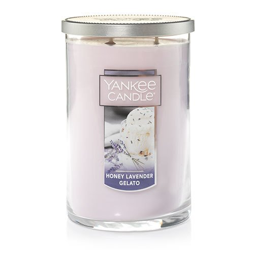 2 Wick Glass Candle - Yankee Candle Large 2-Wick Tumbler Candle, Honey Lavender Gelato