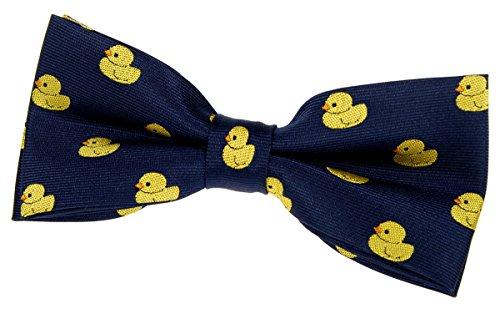 Retreez Classic Rubber Duck Woven Pre-tied Bow Tie (4.5