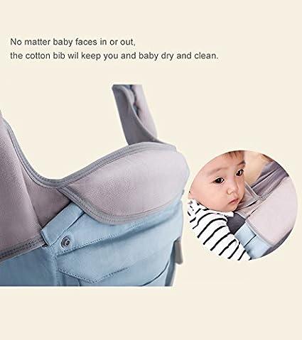 Lekebaby - Mochila para bebé (100% algodón, con asiento de cadera ...