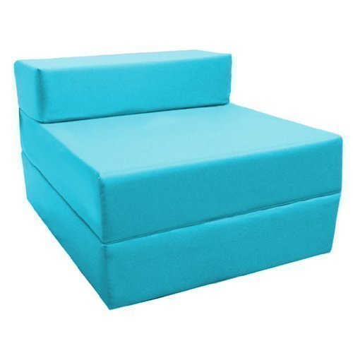 Comfortable Fold Out Z Bed Chair in Turquoise. Soft, Comfortable & Lightweight with a Removeable Waterproof Cover. Available in 10 Colours. Ready Steady Bed