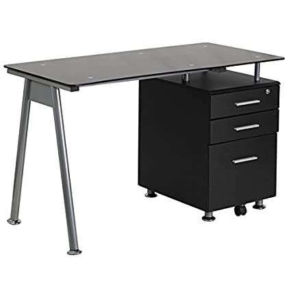 piece desk watch desks soreno glass computer hqdefault black with corner