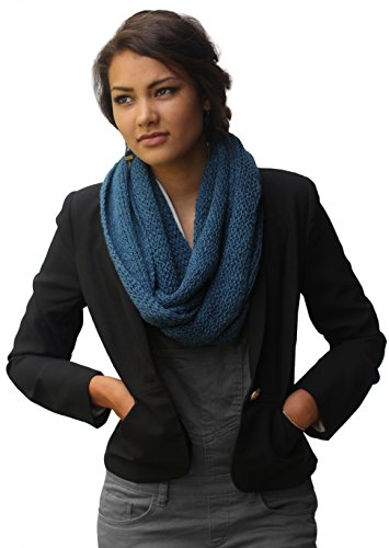 CUSTOM MADE - Handmade PURE ALPACA Infinity Loop Scarf - Knitted by Hand by BARBERY Alpaca Accessories
