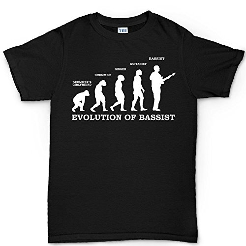 Evolution of Bassist Bass Guitar Precision Jazz T Shirt (Tee) XL Black
