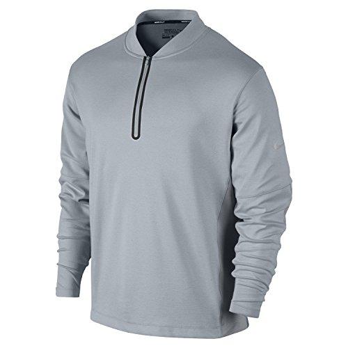 - Nike Men's Dri-Fit Wool Tech Cover-Up - Medium - Light Magnet Grey