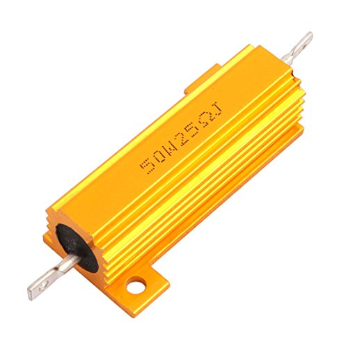 Wire Resistor (Uxcell a15060500ux0420  Aluminum Shell Chassis Mounted Axial Wire Wound Resistor, 50W, 25 Ohm)