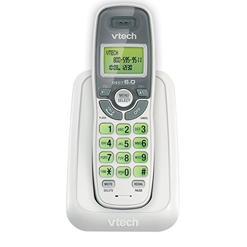 Handset Landline Phone, Vtech Cs6114 Single Home Phone Cordless Handset, White