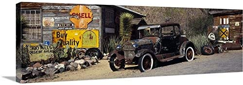 Abandoned Vintage car at The Roadside Route 66 Arizona Canvas Wall Art Print