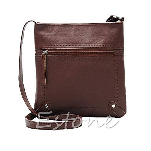 donna Moontang tracolla in tracolla Dark borsa a a in Borsa rosso messenger a pelle tracolla borse Caffè da Colore pelle Brown Dimensione rEwqnrftYC
