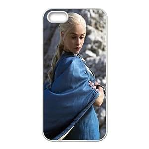 iPhone 5 5s Cell Phone Case White Daenerys Targaryen In Game Of Thrones SUX_120513
