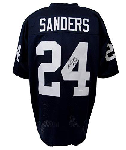 (Miles Sanders Signed/Autographed Penn State PSU Custom Blue Jersey JSA 143023)