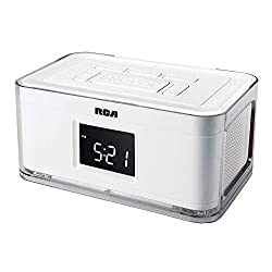 RCA Dual Alarm Clock Radio with Multicolor Fashion Wraps