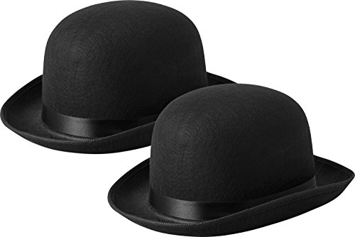 [Black Derby Hat Bowler Costume Dress Up Felt Hat , 5
