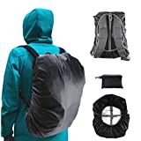 Frelaxy Waterproof Backpack Rain Cover for (15-90L), Upgraded Design & Silver Coated, for Hiking, Camping, Traveling, Outdoor Activities (Black, L)