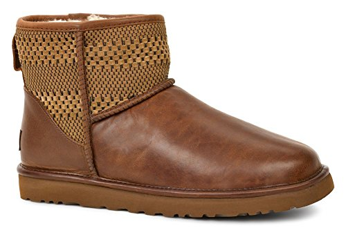 Ugg Hombres Classic Mini Weave Chestnut Suede / Textile / Leather