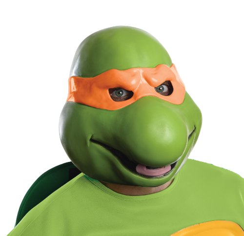 Nickelodeon Teenage Mutant Ninja Turtles Adult Michelangelo 3/4 Mask