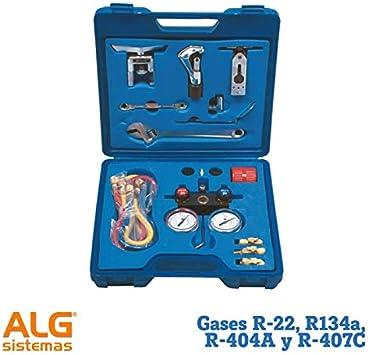 Maleta para frigoristas básica para gases R-22, R134a,R-404A y R-407C: Amazon.es: Bricolaje y herramientas