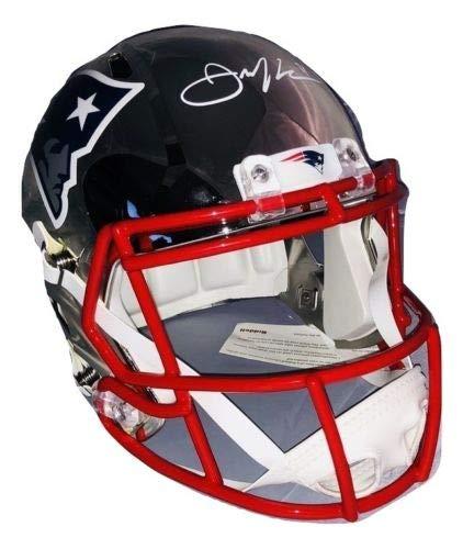 Julian Edelman New England Patriots Signed Chrome Full Replica Helmet JSA 92b6c07c7