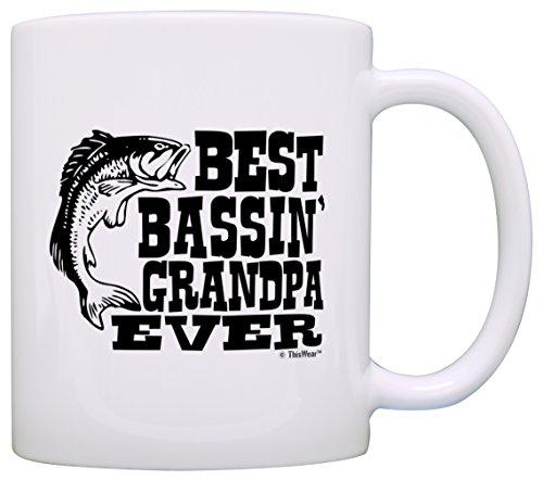 Fathers Grandpa Bassin Fishing Coffee