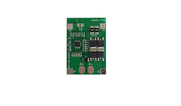3S 11.1V//12.6V 18650 Lithium Battery Protection Board 12.6V 9.6V//10.8V BMS Lithium Iron Phosphate Battery Charing Board 14A