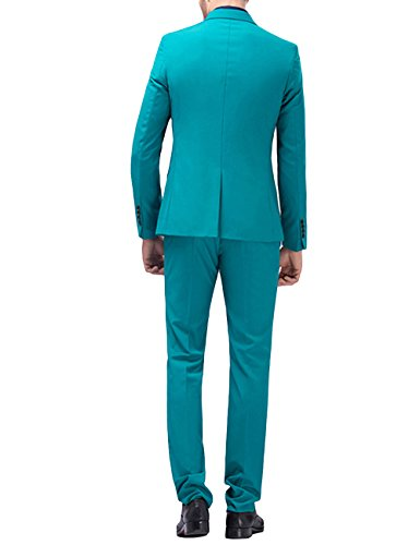 Bavero Di 2 Tasto Verde Vestito Mens Una Del Misura Vestito Tacca Pezzo Yffushi WSCPPnFf