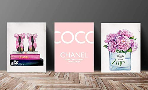 Prada Bag Gucci Shoes - Wall Fashion Glam Art Poster Designer Print Pink