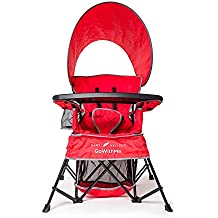 Baby Delight Go With Me Chair | Indoor/Outdoor Chair with Sun Canopy | True Red | Portable Chair converts to 3 child growth stages: Sitting, Standing & Big Kid | 3 Months to 75 lbs | Weather Resistant