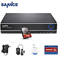 Sannce 8-Channel HD 1080N Home Security Surveillance System Video DVR Recorder with 1TB Hard Disk Drive