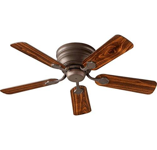 Cheap Quorum 75445-86, Barclay Hugger Oiled Bronze Flush Mount 44″ Ceiling Fan