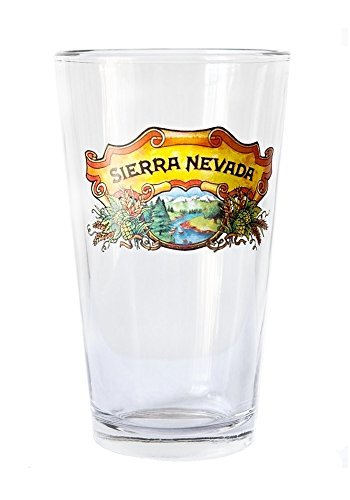 (Sierra Nevada 16 Ounce Full Color Logo  Pint - Single Glass)