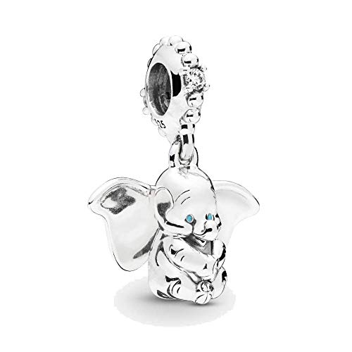 Flying Dumbo Dangle Charm Authentic 925 Sterling Silver Lucy Elephant Pendant Beads fit European Bracelets (Disney & Dumbo - Disney Dangle