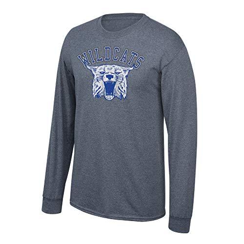 (Elite Fan Shop NCAA Men's Kentucky Wildcats Long Sleeve T Shirt Charcoal Vintage Kentucky Wildcats Charcoal)