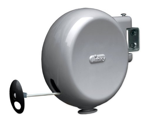 Minky Retractable Reel Outdoor Dryer, 49-Feet Line Drying Space