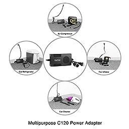 Roypow I52 12V Automotive Use & 110V/120V Home Use Digital Tire Inflator Car Air Compressor with Removable Tire Gauge & AC to DC Power Adapter