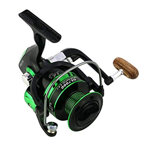 (FEDULK 2019 New Powerful Fishing Reels 5.5:1 10BB Spinning Ultra Smooth Reel for Saltwater or Freshwater(Black,)