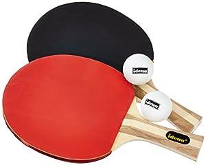Idena 7429837 - Tischtennis Turnierset, 2 Schläger, 2 Bälle, Hülle, farblich...