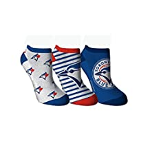 Toronto Blue Jays Logo Women's 3-Pack Ankle Socks