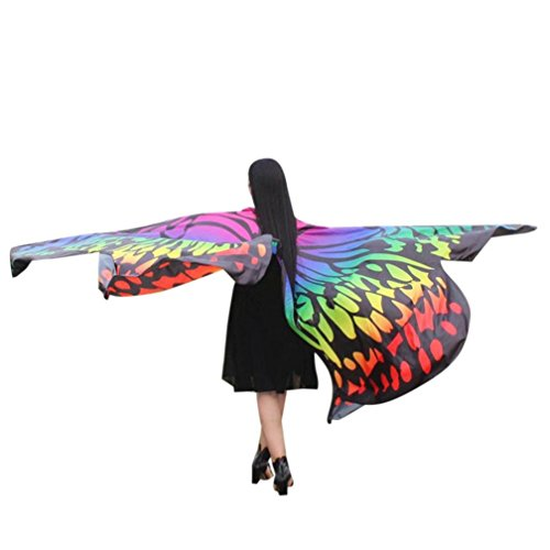 VESNIBA Egypt Belly Wings Dancing Costume Butterfly Wings Dance Accessories No Sticks (Multicolor -1)