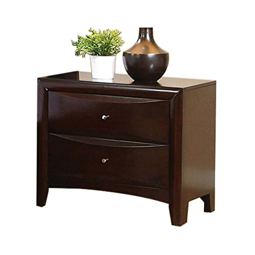 Coaster Contemporary Style Nightstand, Cappuccino (Contemporary Bedside Tables)