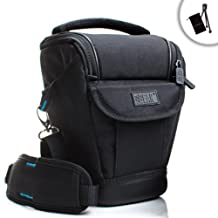 USA Gear Weather-Resistant Digital SLR Camera Case Bag – Works with Nikon D3300 D3400 D7100 D5500 D5300 Canon Rebel T5i T5 T6 Neewer BG-E8 Canon EOS 1300D etc *Includes Accessory Bag & Mini Tripod*