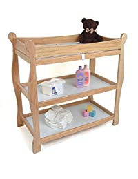 Natural Changing Table, Baby Furniture, Dimensions 37.5x19x37.5, Includes Changing Pad, Includes Shelves, Includes A Changing Pad And Safety Strap BOBEBE Online Baby Store From New York to Miami and Los Angeles
