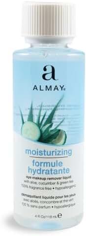 Almay Moisturizing Eye Makeup Remover Liquid, 4 Fluid Ounce