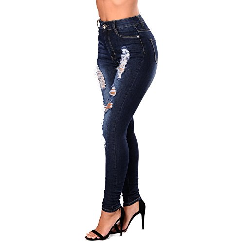 Skinny Ete Lisli Stretch Jean Printemps Collants Bleu Dchir Jogging Pant Femme Pantalon Denim Jeans nqY6HwRq