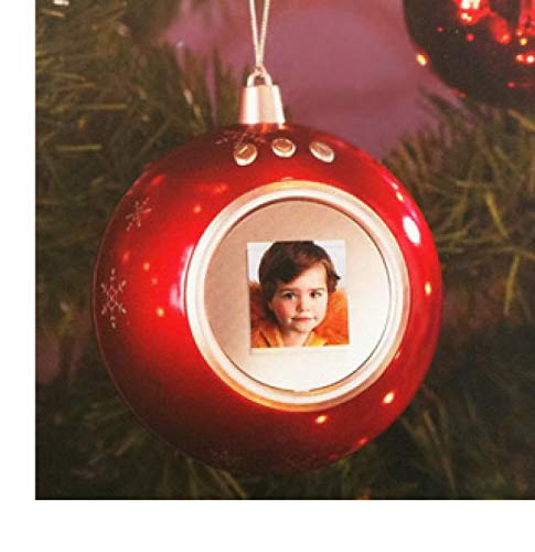 Pallina Natale Con Foto Digitale.Generik Palla Di Natale Digitale Rosso Per Albero