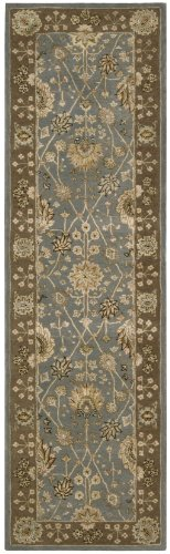 "Nourison Nourison 3000 (3102) Light Blue Runner Area Rug, 2-Feet 6-Inches by 12-Feet  (2'6"" x 12')"