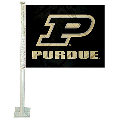 - College Flags and Banners Co. Purdue Boilermakers Slant P Car Flag