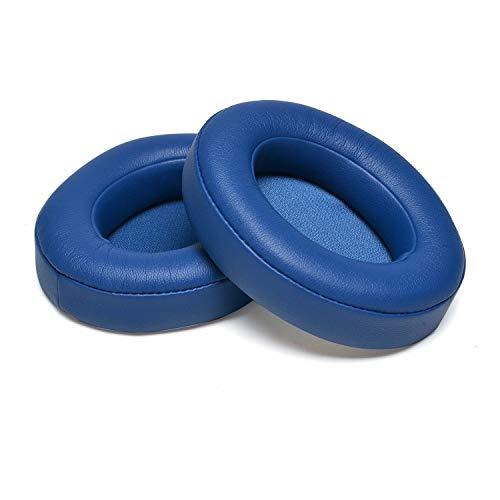 Cushions Beats Solo 2.0/3.0 Ear Pads Replacement Earpads Memory Foam Ear Cover Cups Cushion- Compatible with Solo 2 & 3 Wireless On Ear Headphones (Blue) (Blue) (Beats Studio 3 Vs Beats Studio 2)