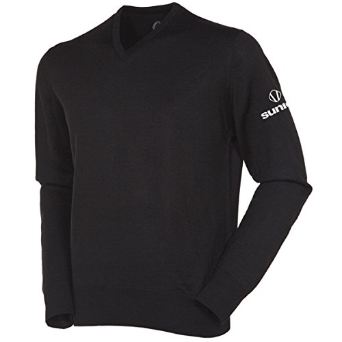 sunice-mens-metter-v-neck-water-repellent-golf-sweater-us-m-black