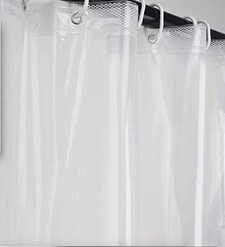 Ebecede Stall Shower Curtain Liner 36 x 72 Transparent PEVA, Clear Shower Curtain Liner for Bathroom with 2 Weighted Magnets, 6 Grommets